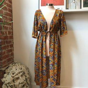 NWT Calzedonia patterned kimono swim coverup S/M